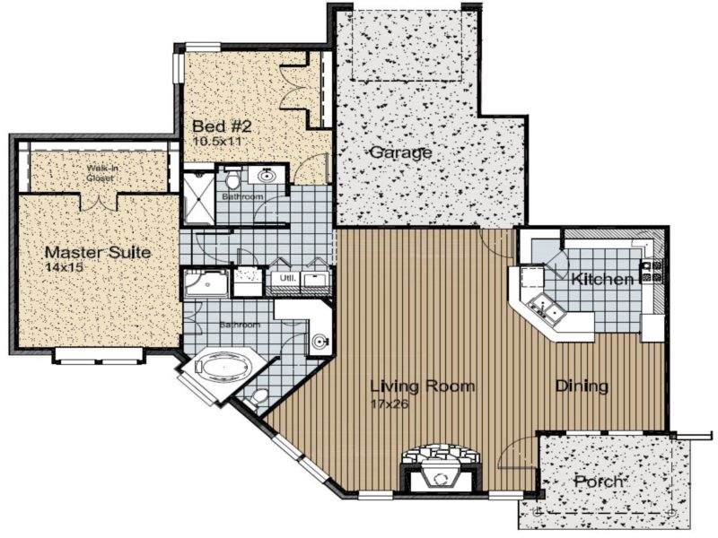 55+ Retirement Community Floor Plan
